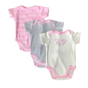 Bundle of Three Adorable ORGANIC Onesies.